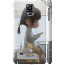 Чехол на Samsung Galaxy Note 4 N910H Милая девочка с зайчико