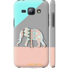 Чехол на Samsung Galaxy J1 J100H Узорчатый слон