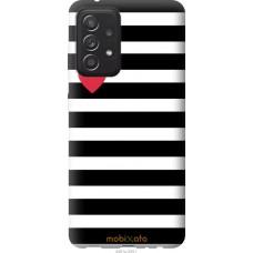 Чехол на Samsung Galaxy A52 Черно-белые полосы