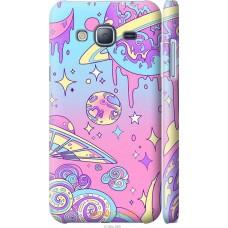 Чехол на Samsung Galaxy J3 Duos (2016) J320H Розовая галакти
