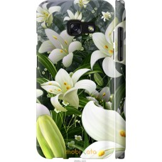 Чехол на Samsung Galaxy A3 (2017) Лилии белые