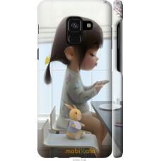 Чехол на Samsung Galaxy A8 2018 A530F Милая девочка с зайчик
