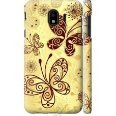Чехол на Samsung Galaxy J4 2018 Рисованные бабочки