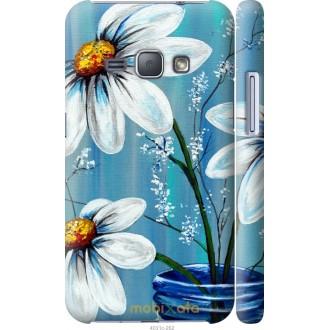 Чехол на Samsung Galaxy J1 (2016) Duos J120H Красивые арт-ромашки