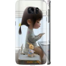 Чехол на Samsung Galaxy S7 Edge G935F Милая девочка с зайчик