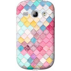 Чехол на Samsung Galaxy Fame S6810 Красочная черепица