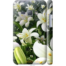 Чехол на Samsung Galaxy J1 (2016) Duos J120H Лилии белые