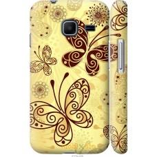Чехол на Samsung Galaxy J1 Mini J105H Рисованные бабочки