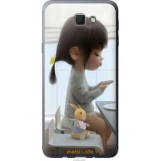 Чехол на Samsung Galaxy J5 Prime Милая девочка с зайчиком