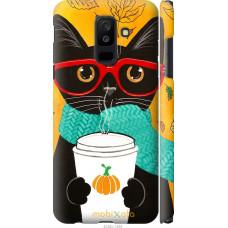 Чехол на Samsung Galaxy A6 Plus 2018 Осенний кот