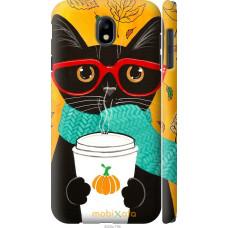 Чехол на Samsung Galaxy J7 J730 (2017) Осенний кот