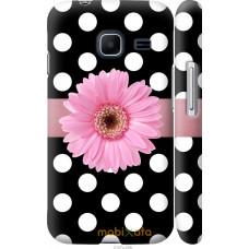 Чехол на Samsung Galaxy J1 Mini J105H Цветочек горошек v2