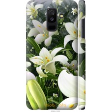 Чехол на Samsung Galaxy A6 Plus 2018 Лилии белые