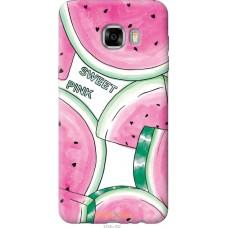 Чехол на Samsung Galaxy C7 C7000 Розовый арбузик