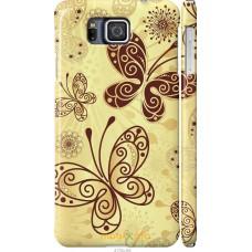 Чехол на Samsung Galaxy Alpha G850F Рисованные бабочки