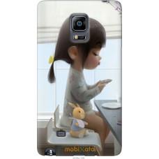 Чехол на Samsung Note Edge SM-N915 Милая девочка с зайчиком