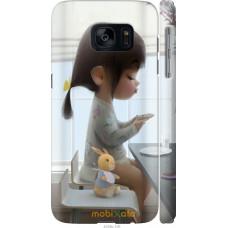 Чехол на Samsung Galaxy S7 G930F Милая девочка с зайчиком