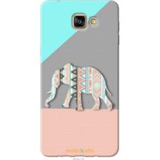 Чехол на Samsung Galaxy A9 A9000 Узорчатый слон