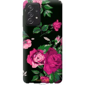 Чехол на Samsung Galaxy A52 Розы на черном фоне