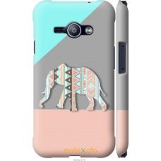 Чехол на Samsung Galaxy J1 Ace J110H Узорчатый слон