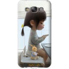Чехол на Samsung Galaxy E7 E700H Милая девочка с зайчиком