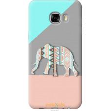 Чехол на Samsung Galaxy C7 C7000 Узорчатый слон