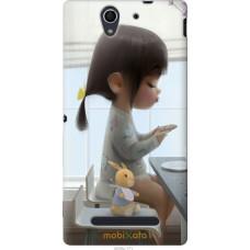 Чехол на Sony Xperia C3 Милая девочка с зайчиком