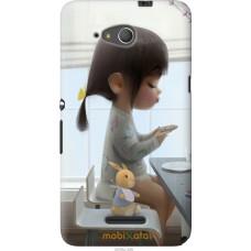 Чехол на Sony Xperia E4g Милая девочка с зайчиком