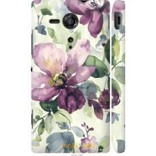 Чехол на Sony Xperia SP M35H Акварель цветы