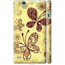 Чехол на Sony Xperia C4 Рисованные бабочки