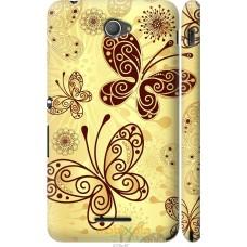 Чехол на Sony Xperia E4 Dual Рисованные бабочки
