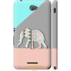 Чехол на Sony Xperia E4 Dual Узорчатый слон