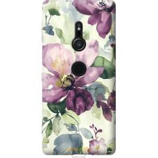 Чехол на Sony Xperia XZ2 Акварель цветы