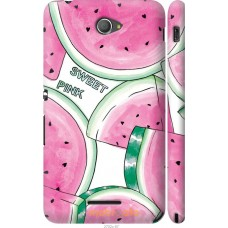 Чехол на Sony Xperia E4 Dual Розовый арбузик