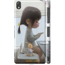 Чехол на Sony Xperia Z3 D6603 Милая девочка с зайчиком