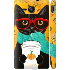 Чехол на Sony Xperia SP M35H Осенний кот
