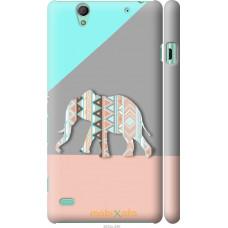 Чехол на Sony Xperia C4 Узорчатый слон
