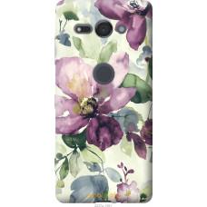 Чехол на Sony Xperia XZ2 Compact H8324 Акварель цветы
