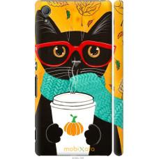 Чехол на Sony Xperia Z3+ Dual E6533 Осенний кот