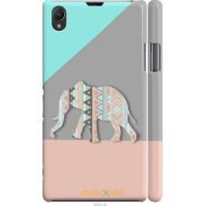 Чехол на Sony Xperia Z1 C6902 Узорчатый слон