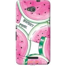 Чехол на Sony Xperia E4g Розовый арбузик