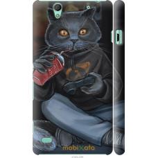 Чехол на Sony Xperia C4 gamer cat