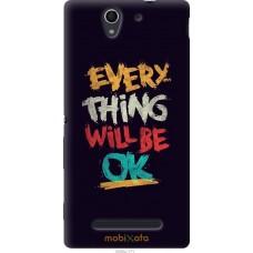 Чехол на Sony Xperia C3 Everything will be Ok