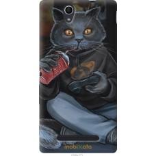 Чехол на Sony Xperia C3 gamer cat