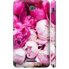 Чехол на Sony Xperia E4 Dual Розовые цветы