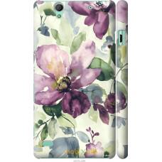 Чехол на Sony Xperia C4 Акварель цветы