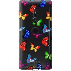 Чехол на Sony Xperia XZ2 H8266 Красочные мотыльки