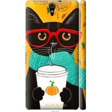 Чехол на Sony Xperia C5 Ultra Dual E5533 Осенний кот