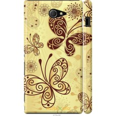 Чехол на Sony Xperia M2 dual D2302 Рисованные бабочки