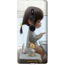 Чехол на Sony Xperia XZ2 Милая девочка с зайчиком